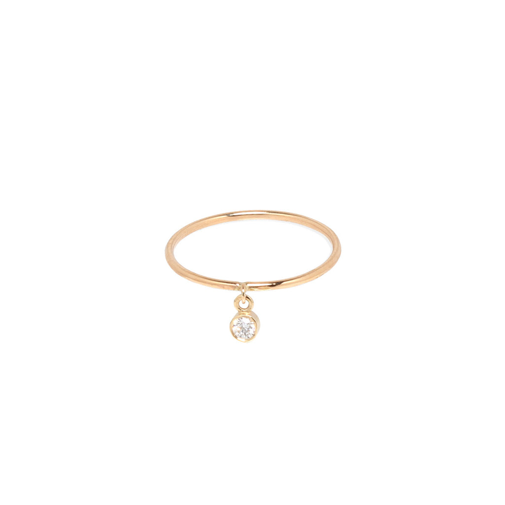 14k round diamond charm band