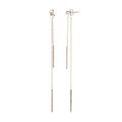 Zoë Chicco 14kt White Gold 2 Bar Diamond Stud Earrings