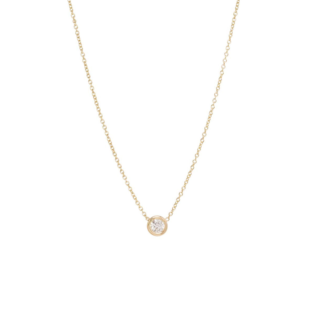 14k large floating diamond choker necklace