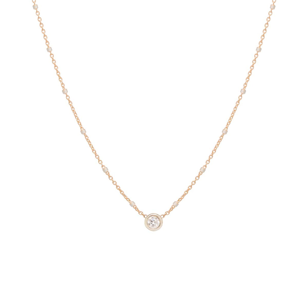 14k mixed chain floating diamond choker necklace