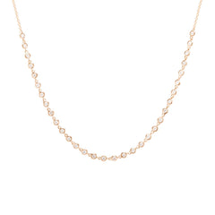 Zoë Chicco 14kt Rose Gold White Diamond Tennis Choker Necklace