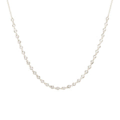 Zoë Chicco 14kt White Gold White Diamond Tennis Choker Necklace