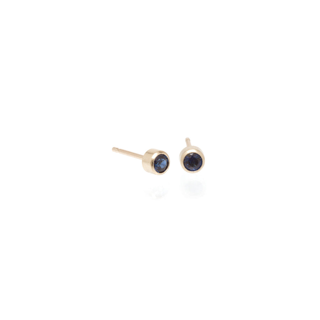 Zoë Chicco 14kt Gold Blue Sapphire Stud Earrings