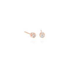 Zoë Chicco 14kt Rose Gold Large Diamond Stud Earrings