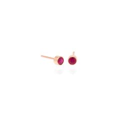 Zoë Chicco 14kt Rose Gold Ruby Stud Earrings