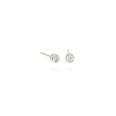 Zoë Chicco 14kt White Gold Large Diamond Stud Earrings
