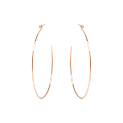 Zoë Chicco 14kt Rose Gold Large Bezel Set White Diamond Stud Hoop Earrings