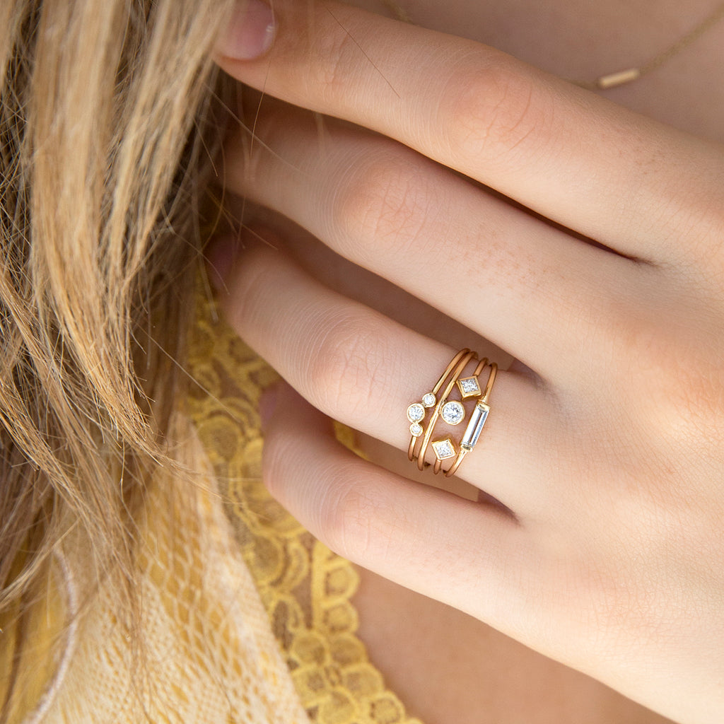 Zoë Chicco 14kt Yellow Gold Large Baguette Ring