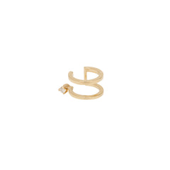 Zoë Chicco 14kt Yellow Gold White Diamond Prong Double Ear Cuff
