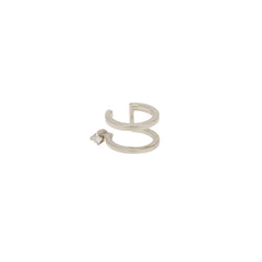 Zoë Chicco 14kt White Gold White Diamond Prong Double Ear Cuff