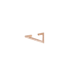 14k pave triangle ear cuff