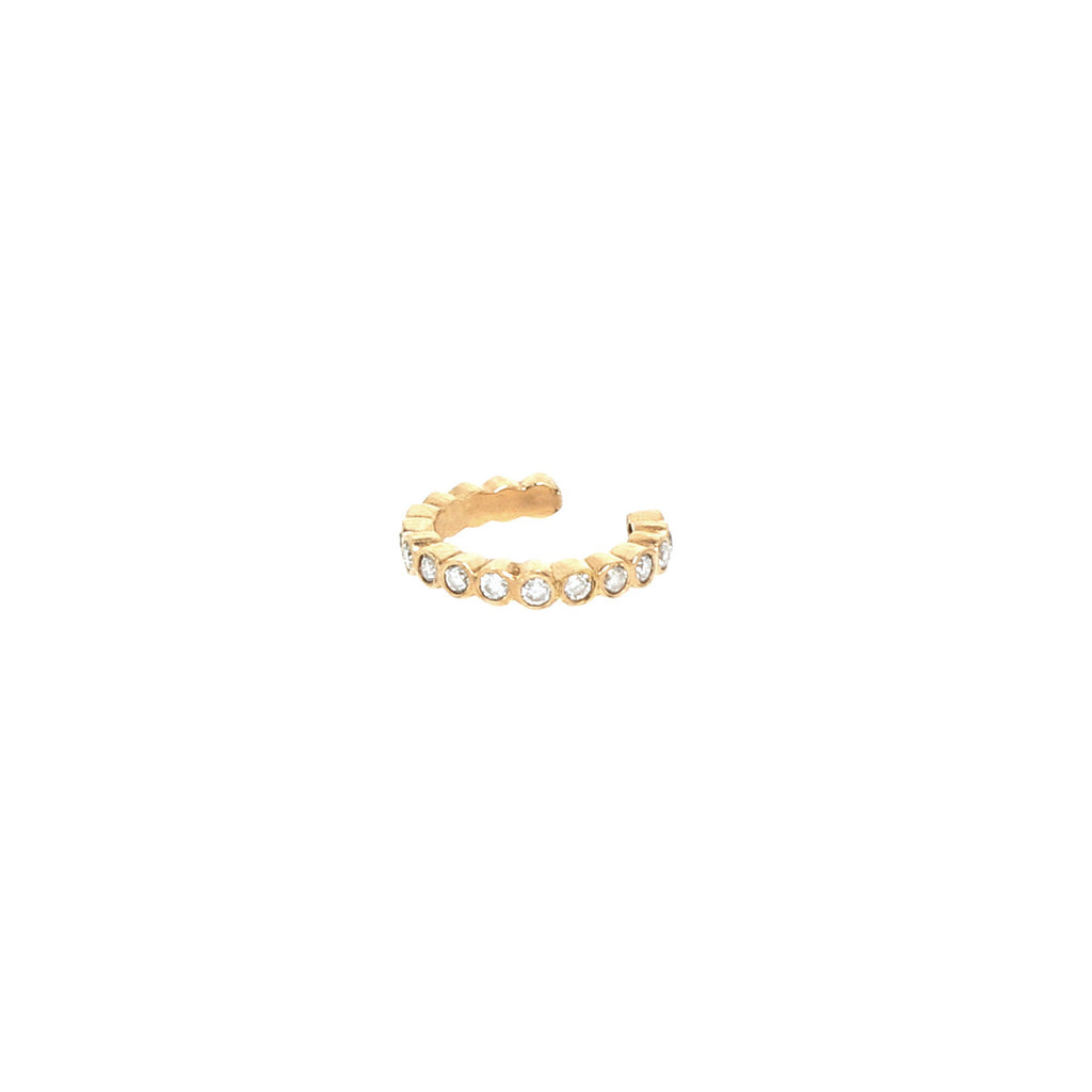 14k bezel diamond ear cuff