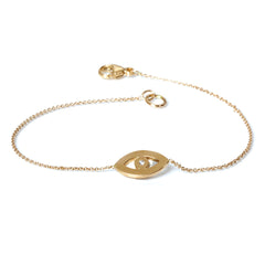Zoë Chicco 14kt Yellow Gold Evil Eye Bracelet