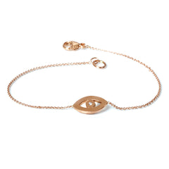 Zoë Chicco 14kt Rose Gold Evil Eye Bracelet