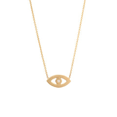 Zoë Chicco 14kt Yellow Gold Evil Eye Necklace