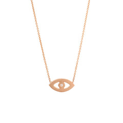 Zoë Chicco 14kt Rose Gold Evil Eye Necklace