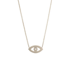 Zoë Chicco 14kt White Gold Evil Eye Necklace