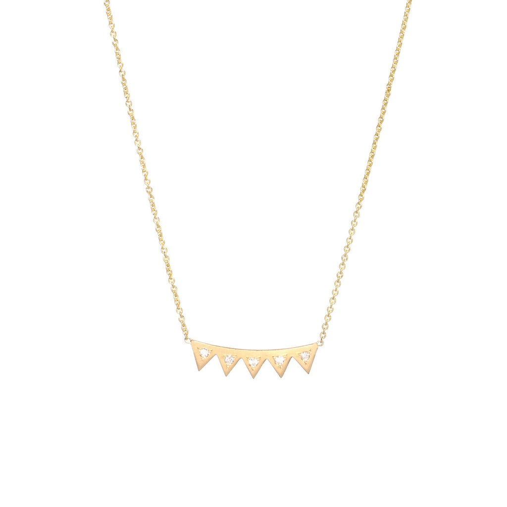 14k small diamond eyelash necklace