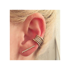14k tiny spiked ear cuff