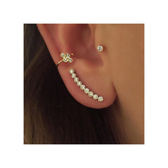 14k nine diamond ear shield