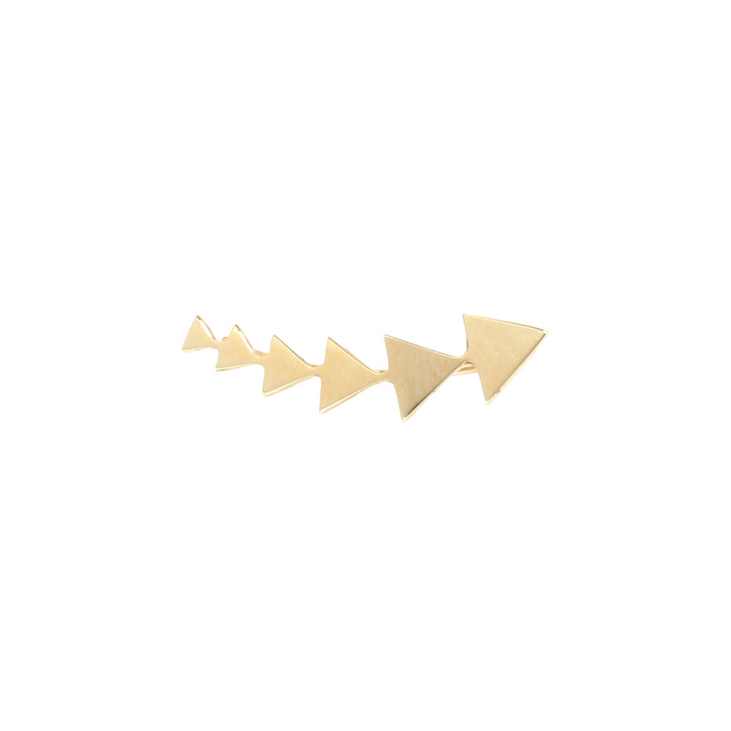 14k flat triangle ear shield
