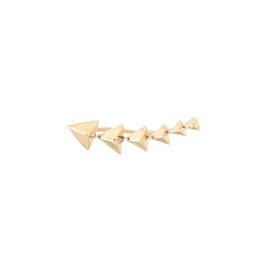14k triangle pyramid ear shield