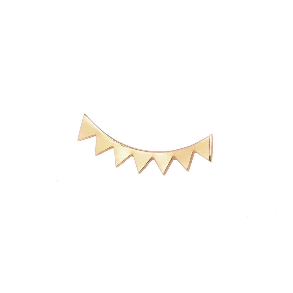 14k flat eyelash ear shield