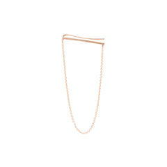 Zoë Chicco 14kt Rose Gold Ear Shield With Hanging Chain Earring