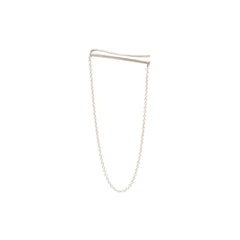Zoë Chicco 14kt White Gold Ear Shield With Hanging Chain Earring