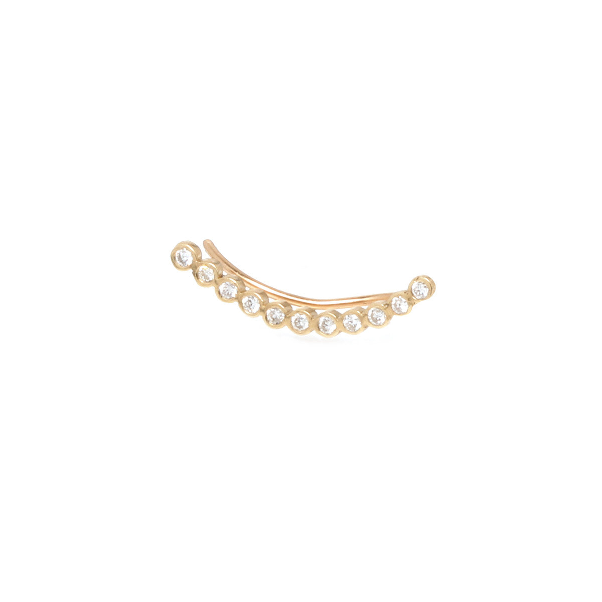 Zoë Chicco 14kt Yellow Gold Tiny Bezel Set Ear Shield