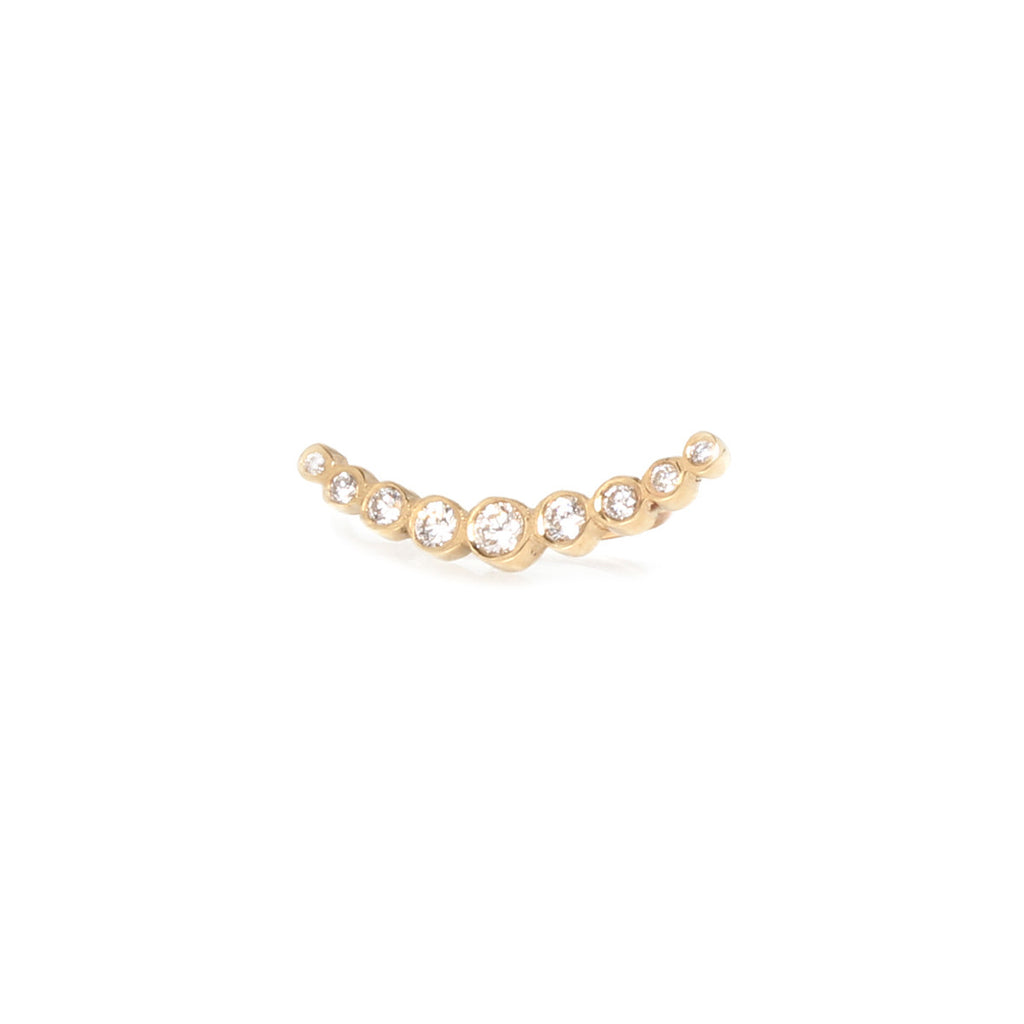Zoë Chicco 14kt Yellow Gold Graduated Bezel Set Diamond Ear Shield