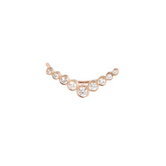 Zoë Chicco 14kt Rose Gold Graduated V Shaped Diamond Ear Shield