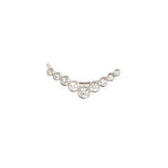 Zoë Chicco 14kt White Gold Graduated V Shaped Diamond Ear Shield