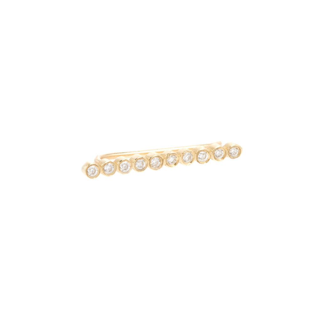 14k ten tiny diamond ear shield