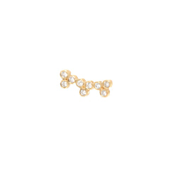 14k three trio diamond ear shield