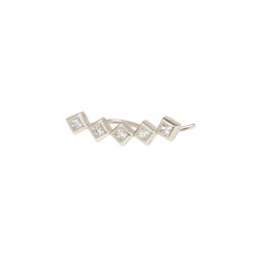 14k princess diamond ear shield