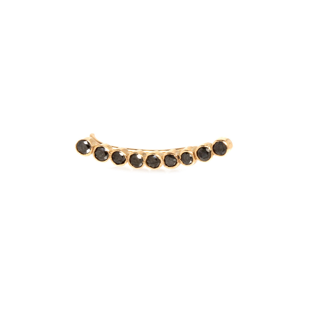 14k nine black diamond ear shield