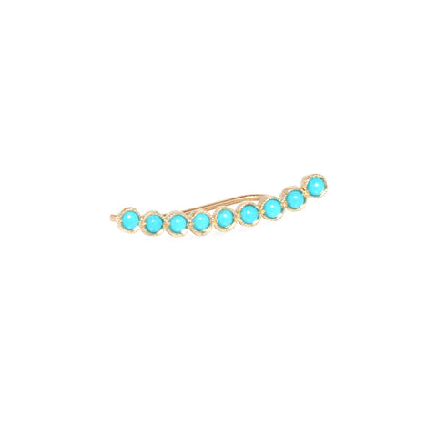 14k nine turquoise ear shield