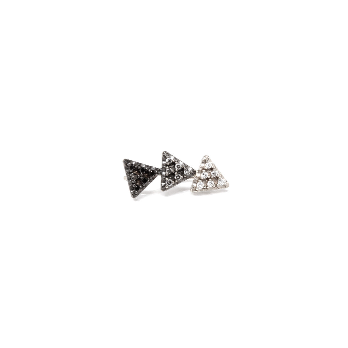 14k ombre pave triangle ear shield