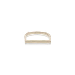 14k flat top bar ring