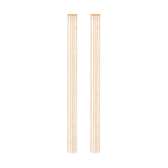 Zoë Chicco 14kt Yellow Gold Fringe Bar Earrings