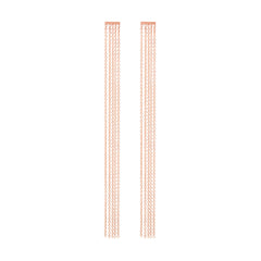 Zoë Chicco 14kt Rose Gold Fringe Bar Earrings