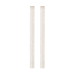 Zoë Chicco 14kt White Gold Fringe Bar Earrings