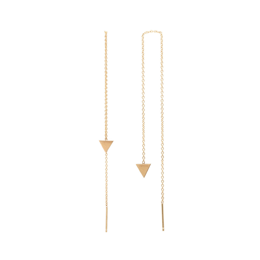 14k flat triangle threader