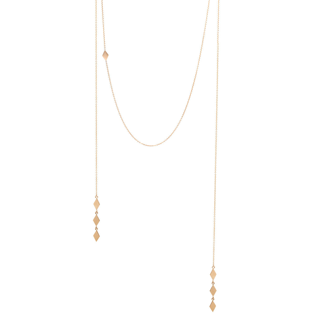 Zoë Chicco 14kt Yellow Gold Faux Wrap Around Necklace