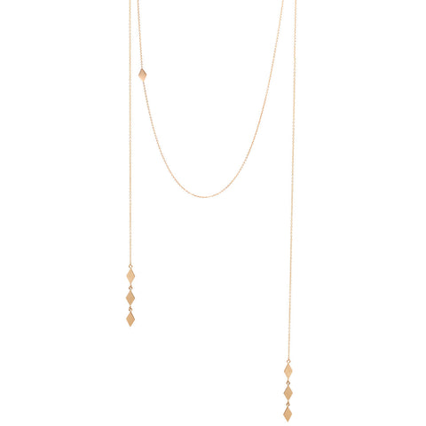 14k faux wrap around necklace