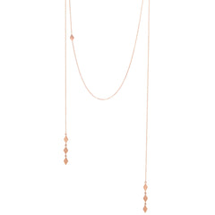Zoë Chicco 14kt Rose Gold Faux Wrap Around Necklace