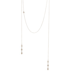 Zoë Chicco 14kt White Gold Faux Wrap Around Necklace