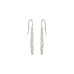 Zoë Chicco 14kt White Gold Graduated White Diamond Drop Earrings
