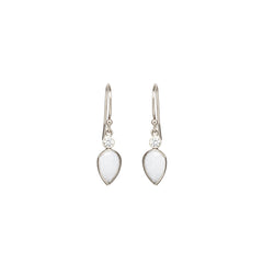 14k opal tear and diamond drop earrings
